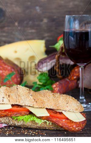 Fresh and Delicious Baguette Sandwich