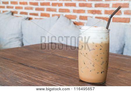Coffee Mocha Into A Cold Glass