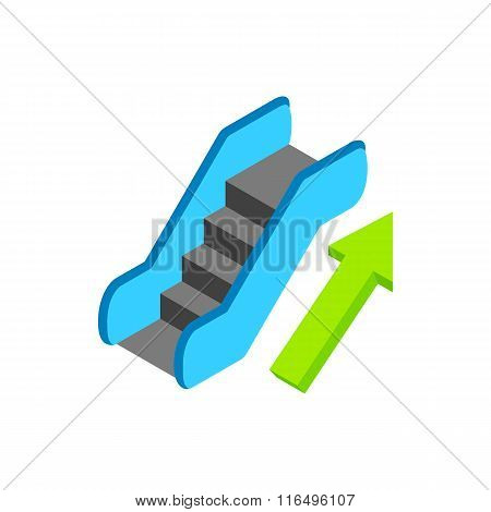 Escalator isometric 3d icon