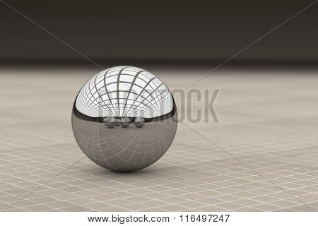 Close-up Of Metal Ball Reflecting Different Balls