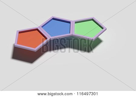 Three Volume Pentagons In A Row
