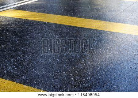 raining on the rural road