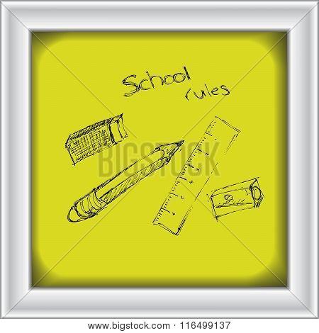 Doodle Of Some School Equipment
