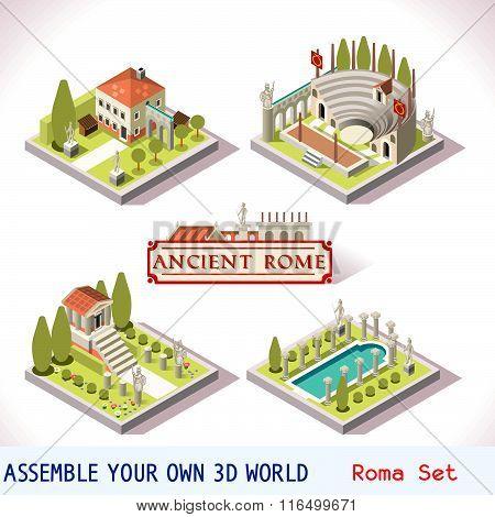Roman 01 Tiles Isometric