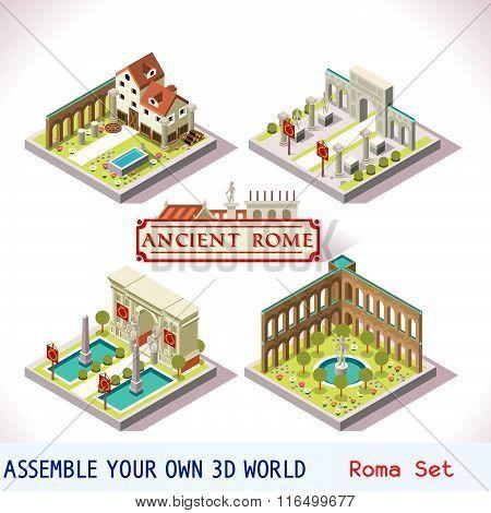Roman 02 Tiles Isometric