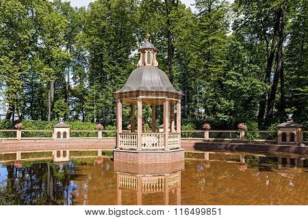 Gazebo In Middle Of Pond
