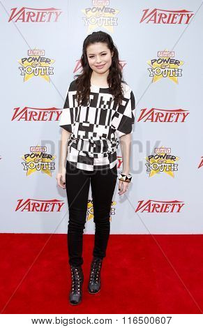 Miranda Cosgrove at the Variety's 3rd Annual Power of Youth Event held at the Paramount Pictures Studios in Hollywood, USA on December 5, 2009.