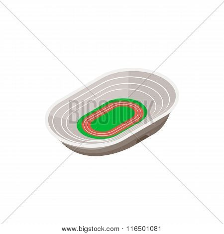 Track field stadium 3d icon
