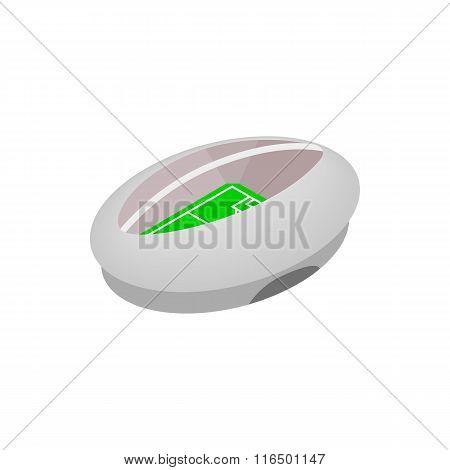 Modern fotball stadium isometric icon