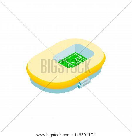 Footbal stadium isometric 3d icon