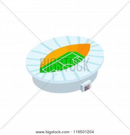 Oval fotball stadium 3d icon