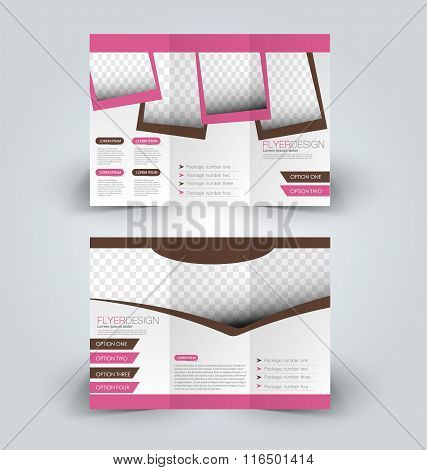 Brochure design template. Abstract background. for business education advertisement.