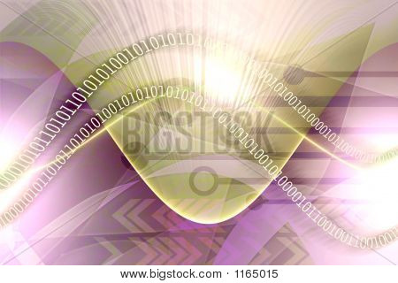 Abstract Binary Data Background