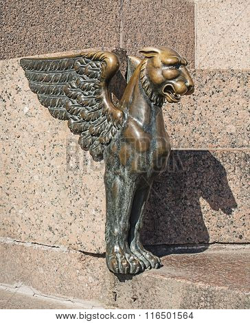Winged Lion Figure
