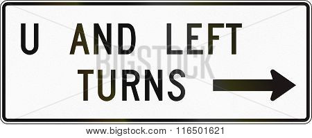 United States Mutcd Road Sign - Allowed Turns