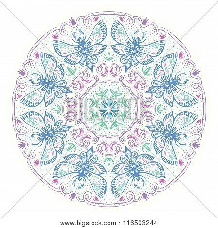 Night Moths Ornate Mandala