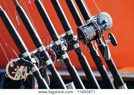 Canas de pesca de mar
