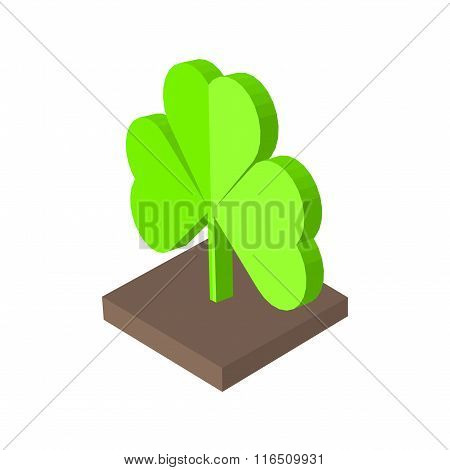 St. Patricks day background with clover. Isometric Vector illustration eps 10.