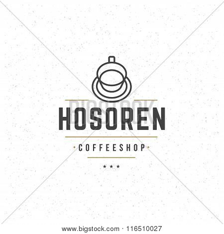 Coffee Logo Template. Vector Design Element Vintage Style for Logotype