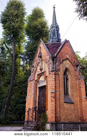 Old crypt in the Lychakiv Cemetery. Lviv, Ukraine