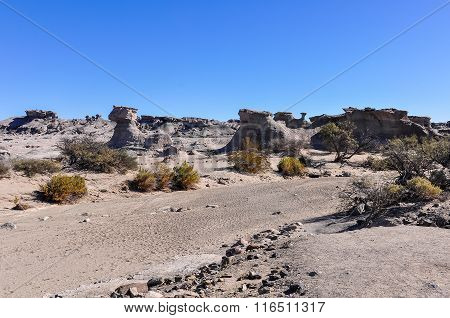 Rock Formations In The Ischigualasto National Park, Argentina