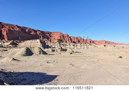 Panoramic View In The Ischigualasto National Park, Argentina