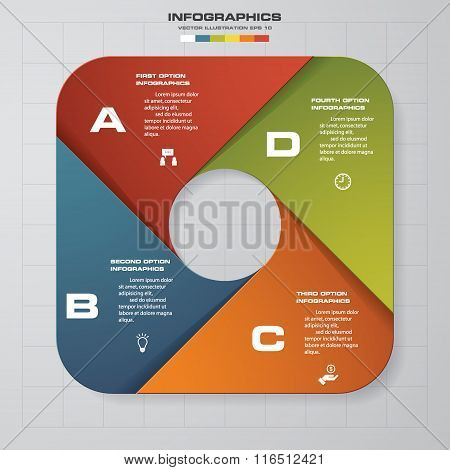 4 steps banners template/graphic or website layout.