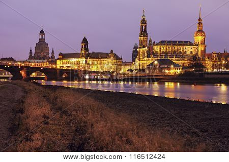 Dresden Architecture Across Elbe River