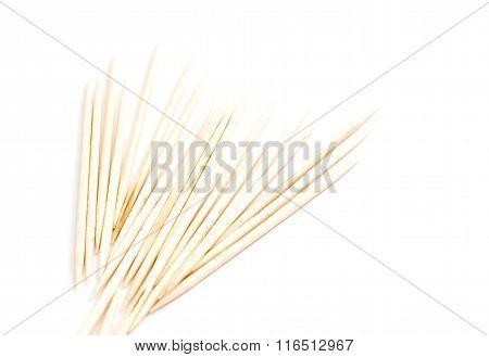 Heap Of Wooden Toothpicks
