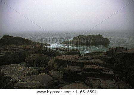 Beach on Bar Harbor Maine