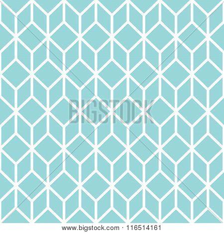 Blue Cube Seamless Pattern.