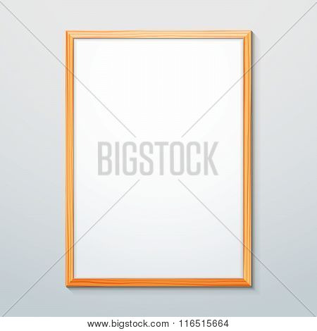 Vertical Wood Texture Frame Mockup.