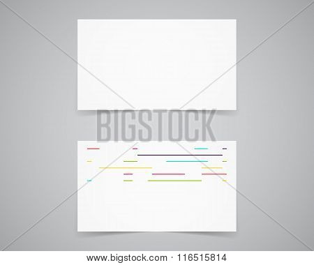 Modern light Business card template for photography studio, photograpgers. Unusual design. Corporate