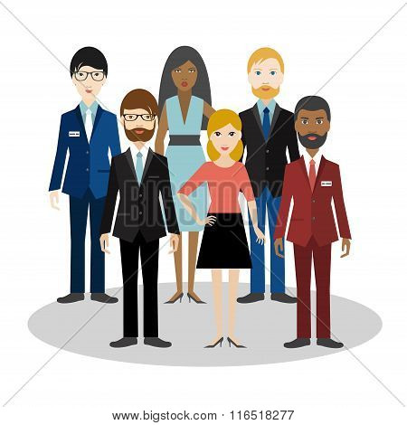 Group Of Bussiness People.