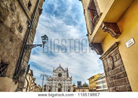 Santa Croce Square In Florence