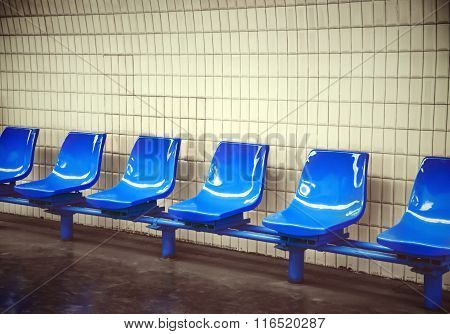 Underground Platform With Chairs