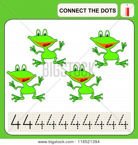 Connect the dots preschool exercise task for kids numbers