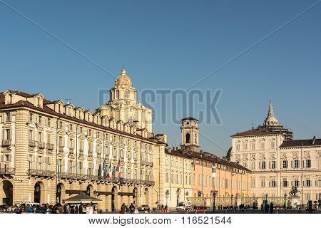 Piazza Castello in Turin, Italy