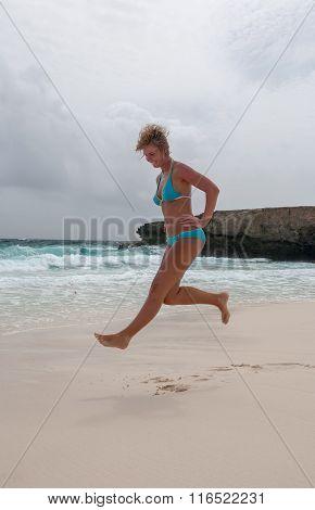 Bikini Girl Sea Beach