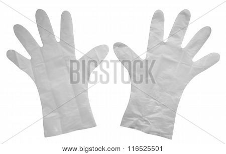 Plastic Gloves Isolated