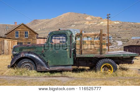 Rusty Old Truck In Bodie State Park