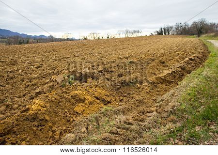 Ploughed Agriculture Field