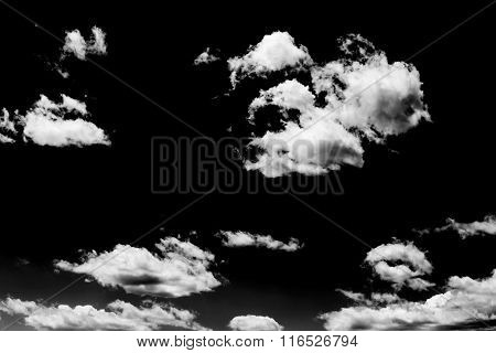Clouds Over Black. Design Elements