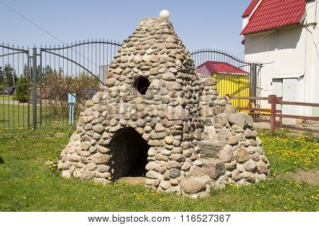 House pet of natural stones