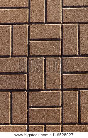 Pattern Of Textured Red Bricks