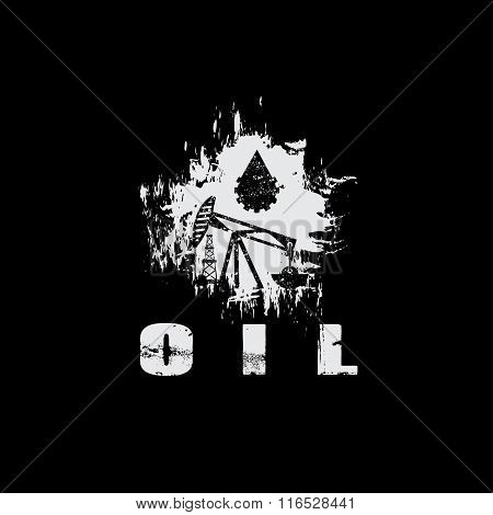Oil Industry Grunge Vector Design Template