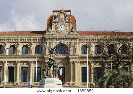 Cannes, France - circa june 2014 -Hotel de ville of Cannes on the cote d'azur (south of France)