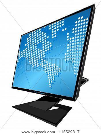 LCD monitor vector illustration