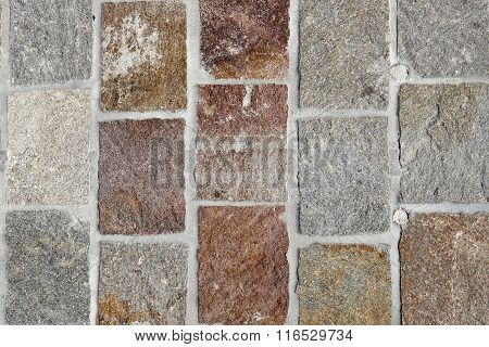 Closeup Image Of Colored Cobblestones