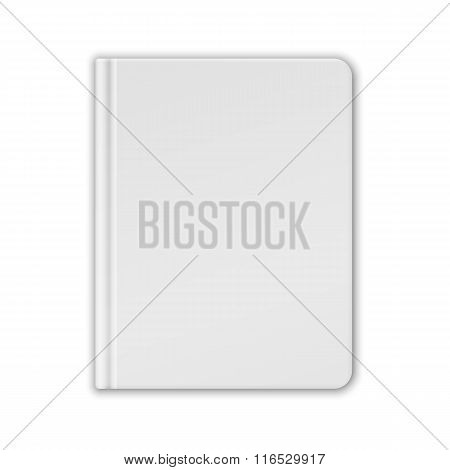 White Blank Book Or Notebook Template. Vector